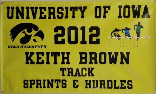 Iowa Track Banner