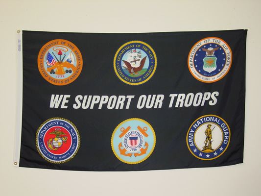 We Support Our Troops Black