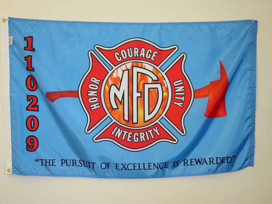 Milwaukee Fire Department - Honor, Courage, Unity, Integrity - Custom Digital Print Flag.jpg