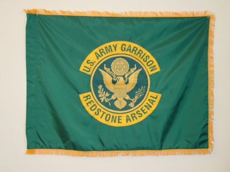 U.S. Army Garrison - Redstone Arsenal Indoor Flag.JPG