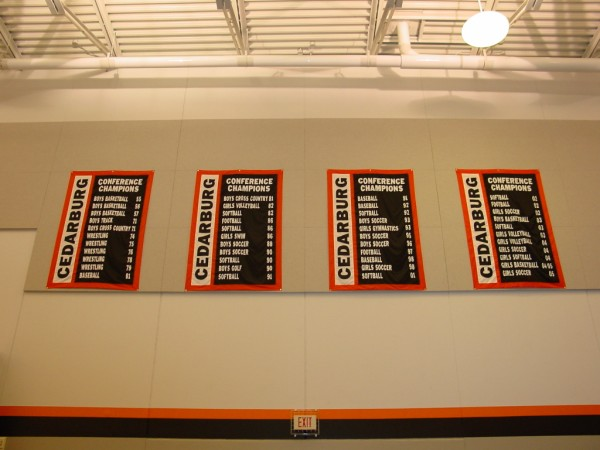 Cedarburg Conference Championship Banners.JPG