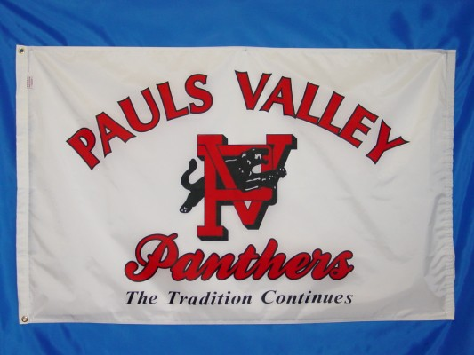Pauls Valley Panthers - Screen Print Flag.JPG