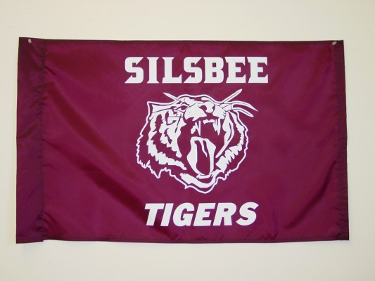 Silsbee Tigers - Screen Print Flag.JPG
