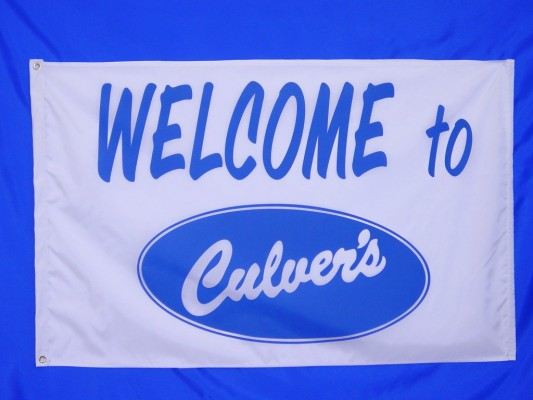 Welcome to Culvers - Screen Print Flag.jpg