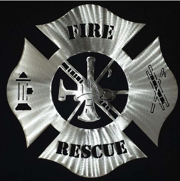 Fire Rescue Steel Art