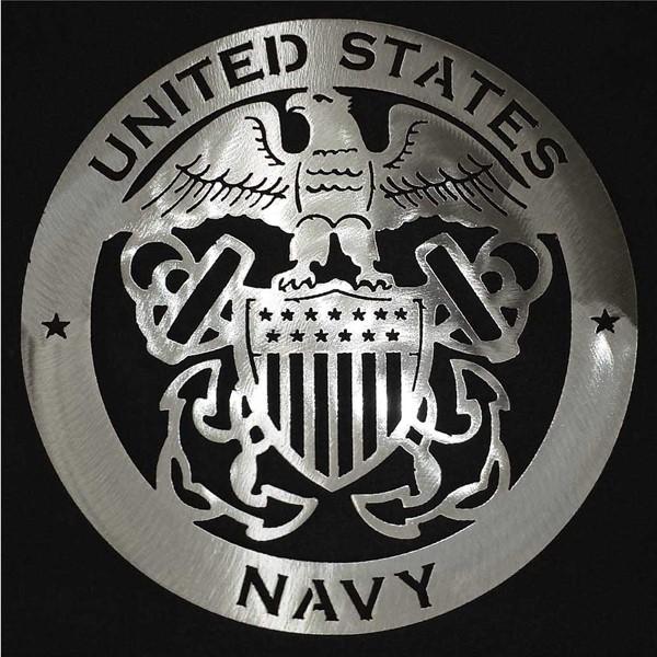 Navy Steel Sign Art