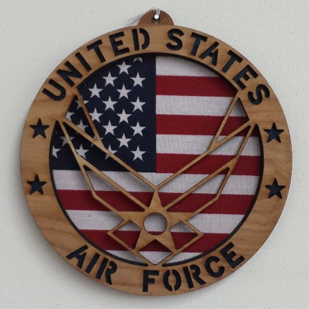 Air Force Wood Plaque 8.5in
