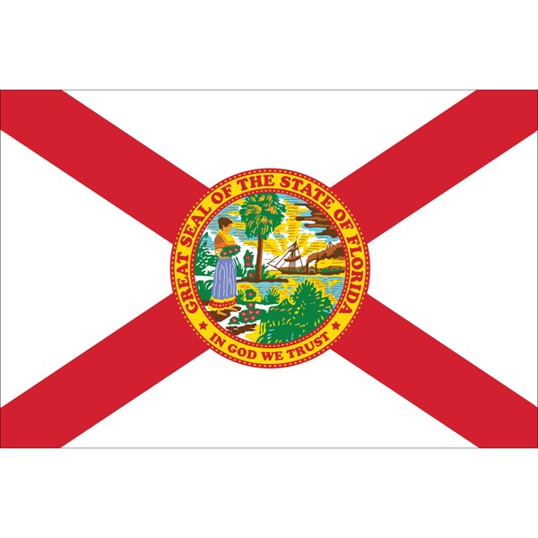 4x6in Mounted Florida Flag