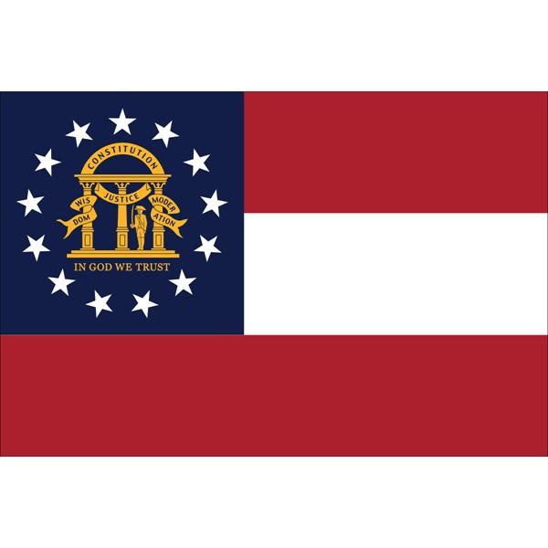 4x6in Mounted Georgia Flag