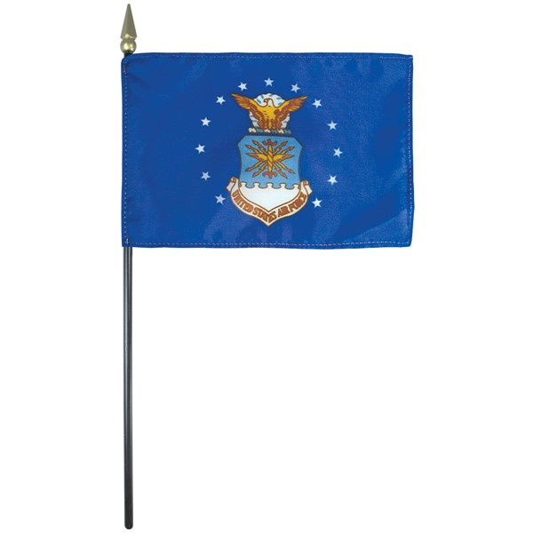4x6in Mounted Air Force Flag
