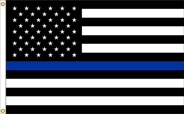 Thin Blue Line U.S. 3x5' Flag 2