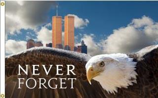 Never Forget Eagle Flag