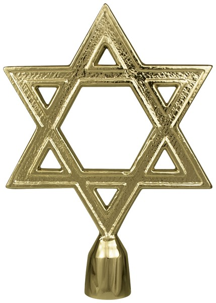 Metal Star of David without ferrule