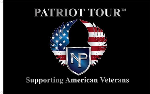 Patriot Tour Logo Flag 3x5 Double Sided