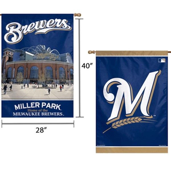 """Brewers Miller Park 2 Sided 28""""x40"""" Banner"""
