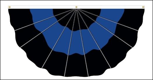 Thin Blue Line Nylon Fan