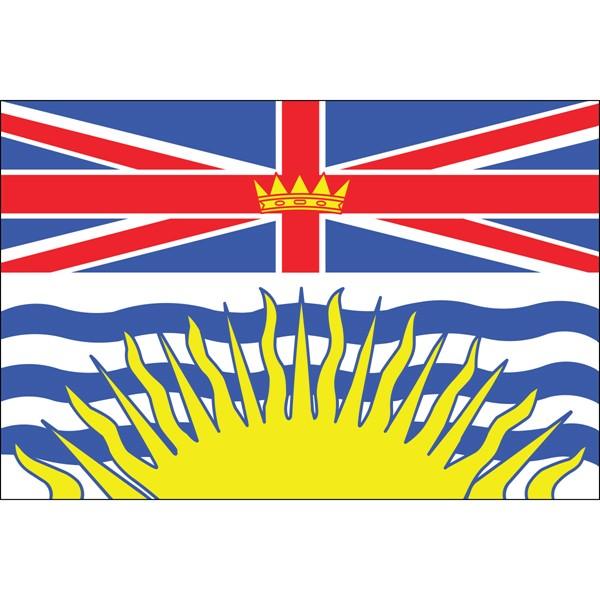 British Columbia 3x5ft Flag