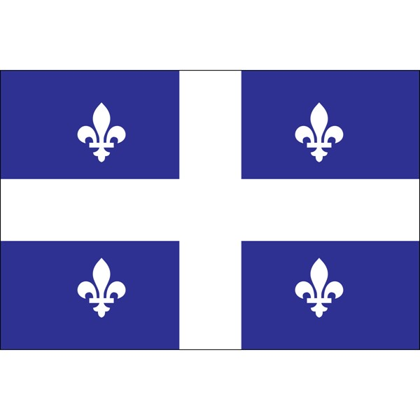 Quebec 3x5ft Flag