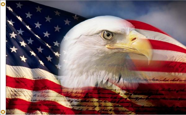 Proud Eagle 3x5ft Flag