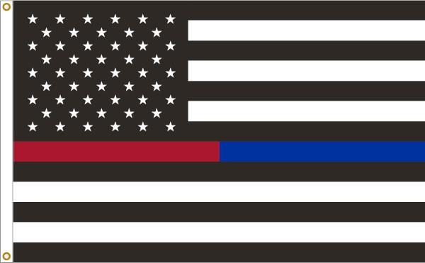 Thin Red-Blue Line U.S. 3x5ft Flag