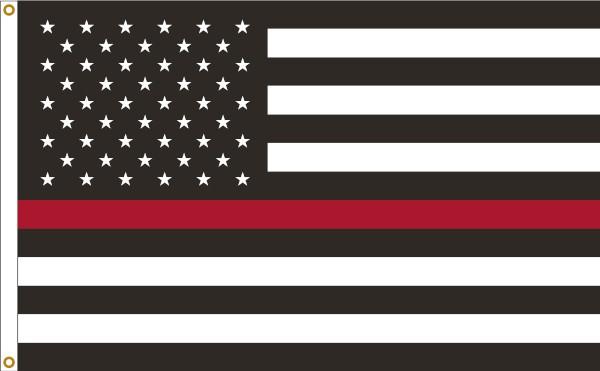 Thin Red Line U.S. 3x5ft Flag