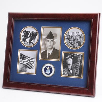 """Air Force Medallion 5 Photo Collage 13x16"""" Frame"""
