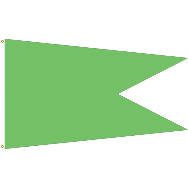 Solid Color Action Angle Burgee