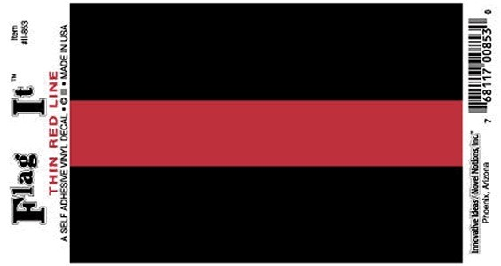 Thin Red Line Decal 3.5x5in