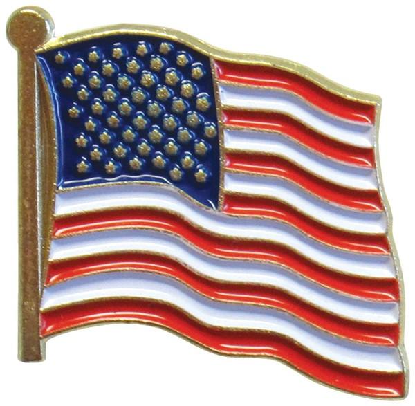 U.S. Flag Waving Pin