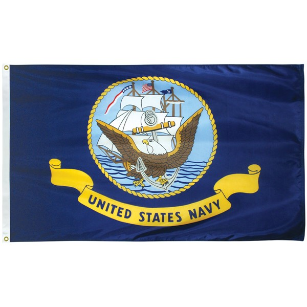 Navy Polyester Flag