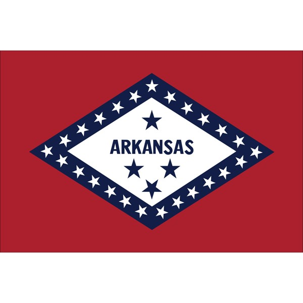 Arkansas State Nylon Flag