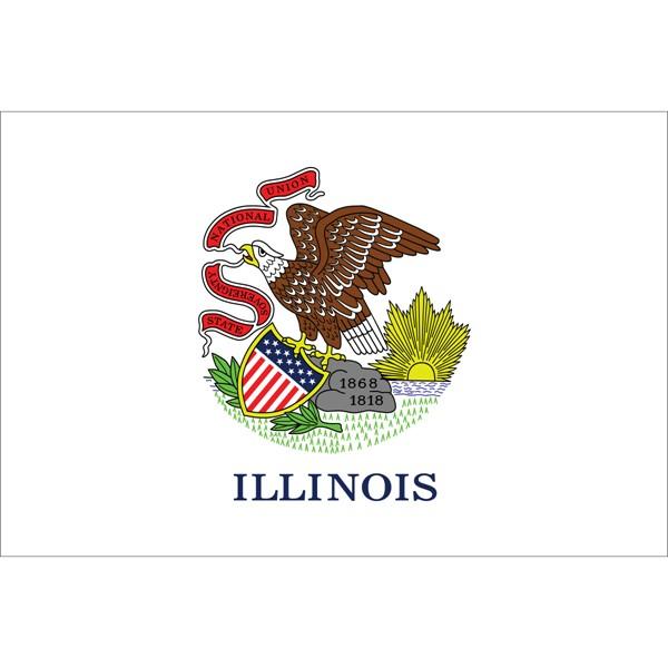 Illinois State Polyester Flag