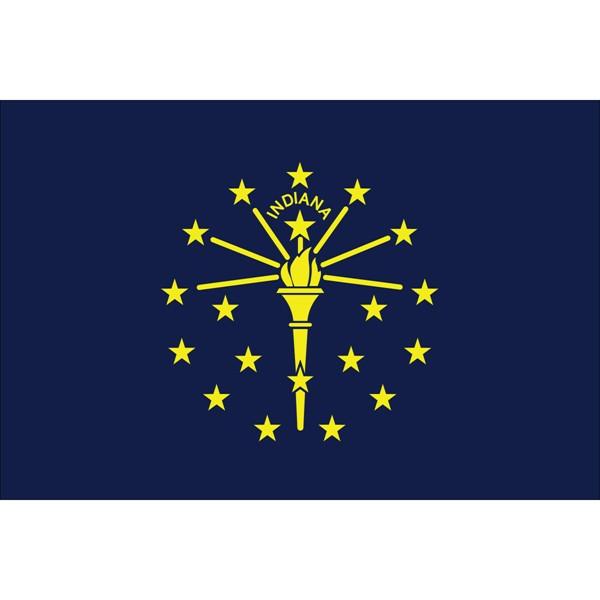 Indiana State Nylon Flag