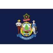 Maine State Polyester Flag