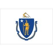Massachusetts State Polyester Flag