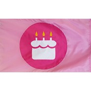 Birthday Cake POP Flag