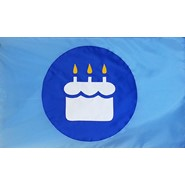 Birthday Cake BOB Flag