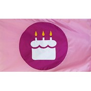 Birthday Cake MOP Flag