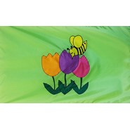 Tulip with Bee Flag