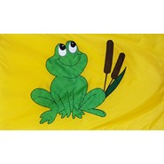 Frog and Cattails Flag