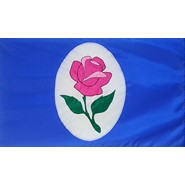 Rose In Window Flag