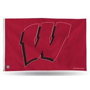 Wisconsin Univ (Red/Red) 3x5ft Flag