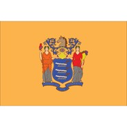 New Jersey State Nylon Flag