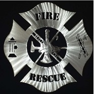 Fire Rescue Steel Art