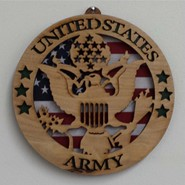 Army Wood Plaque 8.5in