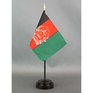 4x6in Mounted Afghanistan Flag