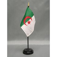 4x6in Mounted Algeria Flag