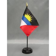4x6in Mounted Antigua & Barbuda Flag