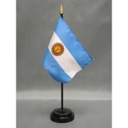 4x6in Mounted Argentina Flag