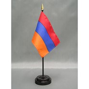 4x6in Mounted Armenia Flag